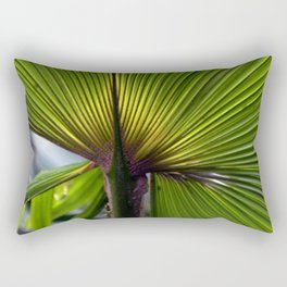 Tropical Palm Leaf Rectangular Pillow