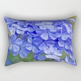 Summer garden blues - macro floral phtography Rectangular Pillow