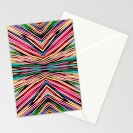 Toothpick Fusion Abstract Pattern Landscape Stationery Cards