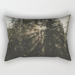 Sunset in the Woods - Nature Photography Rectangular Pillow