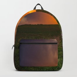 Autumn Sunset - Flowers and Tree on Oklahoma Plains Backpack