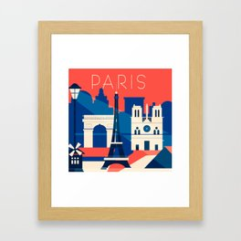Abstract Paris Framed Art Print