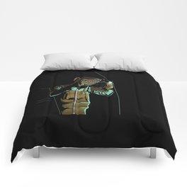 Welder Funny Mongkey Happy Comforters