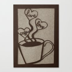 Live, Love, Coffee Canvas Print