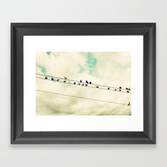 Away from home Framed Art Print