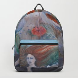 Islas Galápagos tropical paradise landscape nude portrait painting Backpack