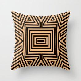African Geometric Tribal Pattern 2 Throw Pillow