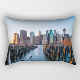 Sunset over Manhattan Rectangular Pillow