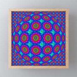 Flower  rainbow-colored Framed Mini Art Print