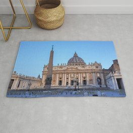St. Peter's Square in Vatican City - Rome, Italy Rug