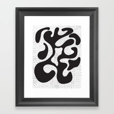 Abstract 22 Dotwork Framed Art Print