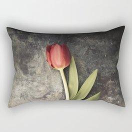 Red Tulip Rectangular Pillow