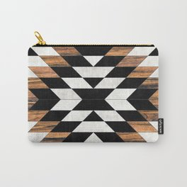 Urban Tribal Pattern No.13 - Aztec - Concrete and Wood Carry-All Pouch