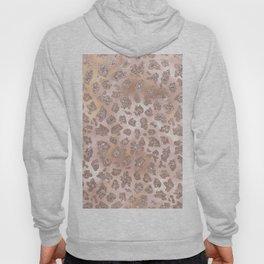 Rosegold Blush Leopard Glitter Hoody