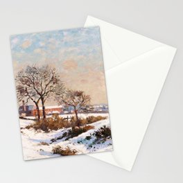 Camille Pissarro - Snowy Landscape At South Norwood - Digital Remastered Edition Stationery Cards