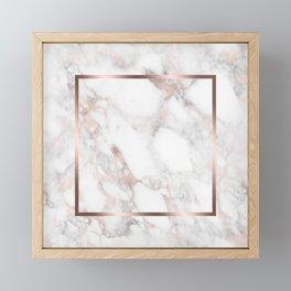 Luxury Rose-gold Faux Marble Framed Mini Art Print