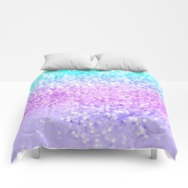 Unicorn Girls Glitter #9 #shiny #decor #art #society6 Comforters