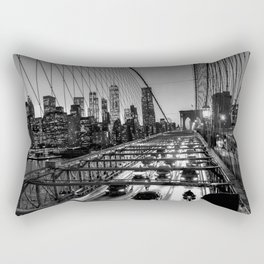 Crossing the Brooklyn Bridge Rectangular Pillow