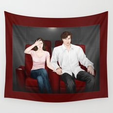 viewing valentines Wall Tapestry