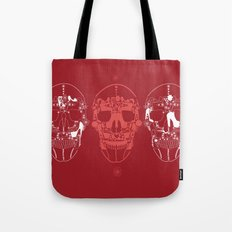 shoes make a skull Tote Bag