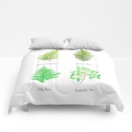 fern collection watercolor Comforters