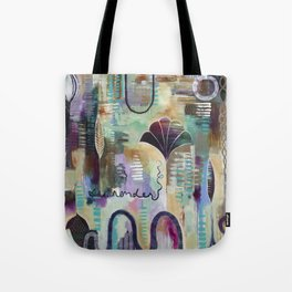 """Surrender Grow"" Original Painting by Flora Bowley Tote Bag"