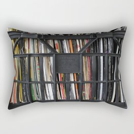 Vinyl DJ Crate Rectangular Pillow
