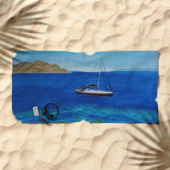 Sailboat Beach Towel