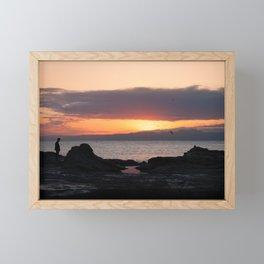 Enoshima sunset Framed Mini Art Print
