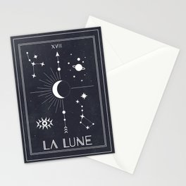 The Moon or La Lune Tarot Stationery Cards