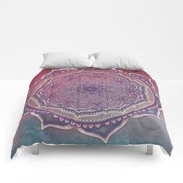 Pink and Blue Mandala Comforters