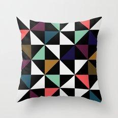 Harlequin pattern (salmon & mint) Throw Pillow
