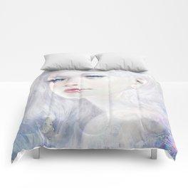 Snow white hair ice girl Comforters