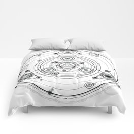 Sacred geometry and geometric alchemy design Comforters