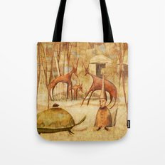 The Tortoise and the Beetle Tote Bag