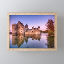 Sully sur Loire at sunrise, Loire valley, France. Framed Mini Art Print