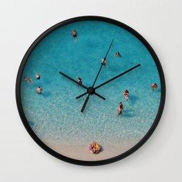 Blue water Wall Clock