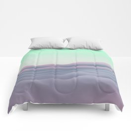 iso mountain sunset Comforters