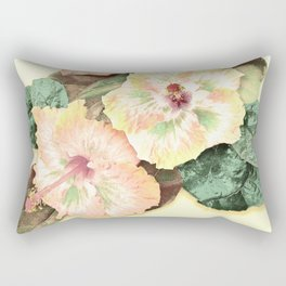 Tropical Botanical Yellow Rectangular Pillow