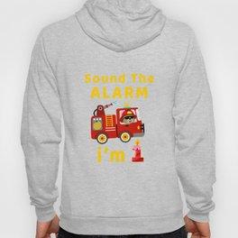 Fire Truck 1 Year Old Birthday T Shirt Gift Bear Kid Kids Hoody