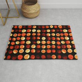 Orange dots Rug