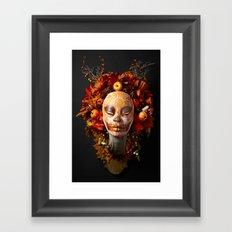 Pumpkin Harvest Muertita Framed Art Print
