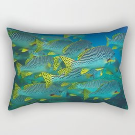 At the bottom of the sea. Rectangular Pillow