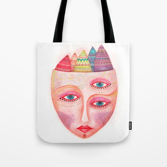 mask - girl with the most beautiful eyes Tote Bag