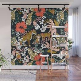 Animal print dark jungle Wall Mural
