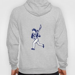 Female Patriot Lacrosse Player Mascot Hoody