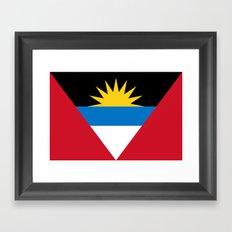 Flag Of Antigua and Barbuda Framed Art Print