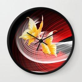 Tanz der Schmetterlinge Wall Clock