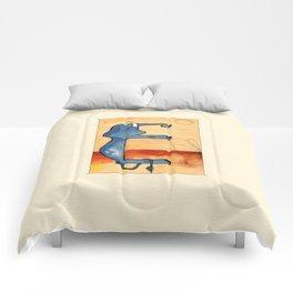 Animal's Alphabet - E for 'Elefante' Comforters