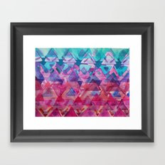 Overlapping Triangles 3 Framed Art Print